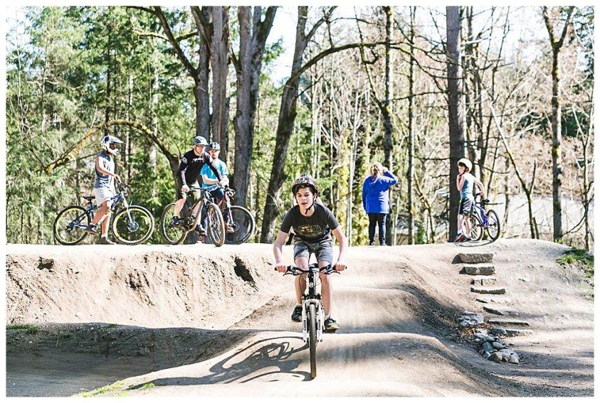 Whatcom Falls pump course. Bike course in Bellingham,