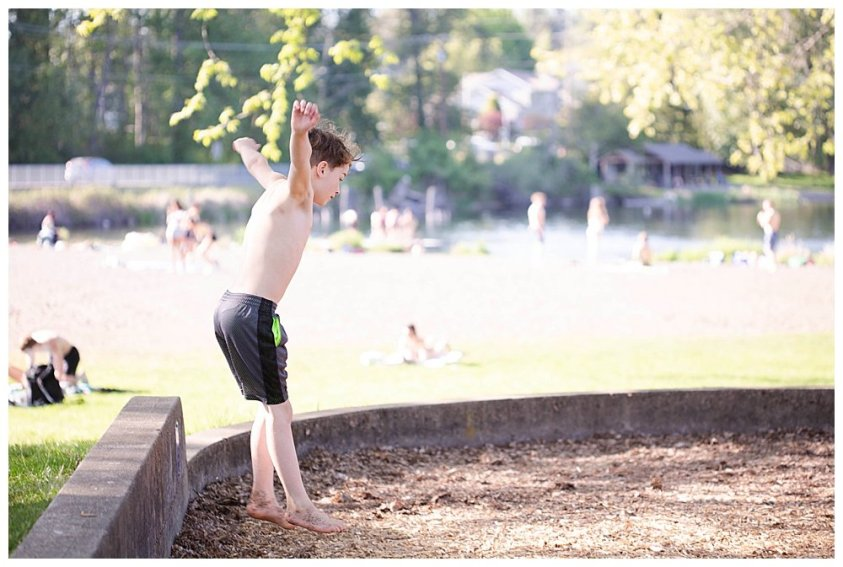 Apollo jumping at playground.