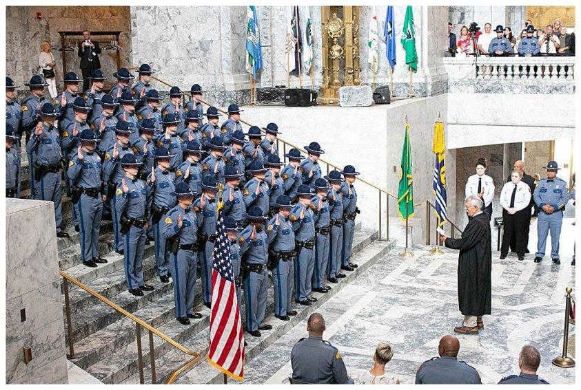 Washington State Patrol gradaution at the state capitol.