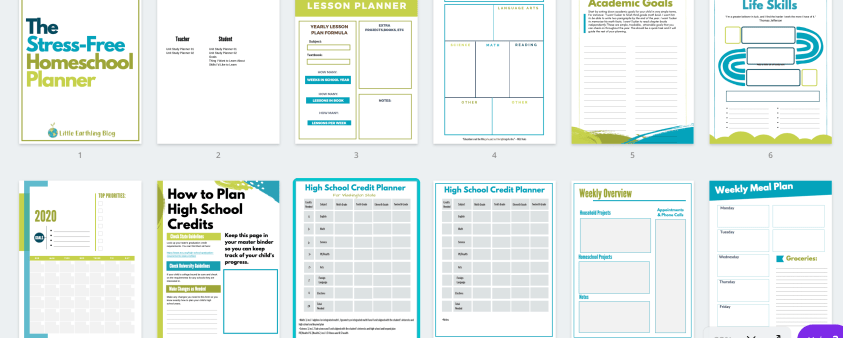 How to Plan Homeschool Year: Printable Homeschool Planner