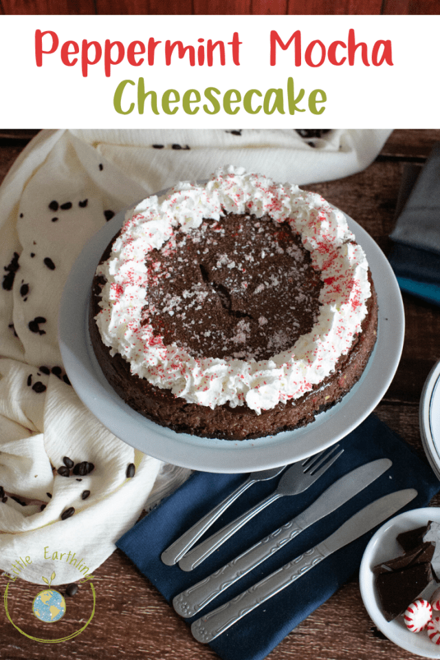 This Peppermint Mocha Cheescake is delicious and easy to make. Perfect holiday gatherings.