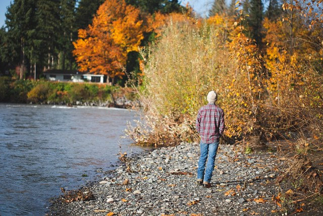 Hezekiah exploring the Nooksack River was the perfect day for a homeschool vlog.