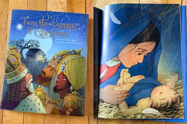 Twas the Evening of Christmas tells the Christmas story with the same rhyme and cadence as The Night Before Christmas.