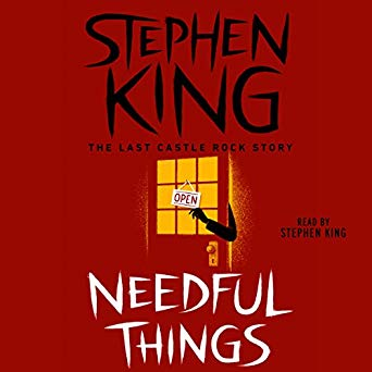 Needful Things by Stephen King spoke to my minimalist heart.
