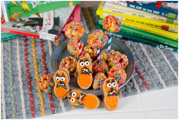 Make these fun Lorax cookies to celebrate Dr. Seuss's Birthday.