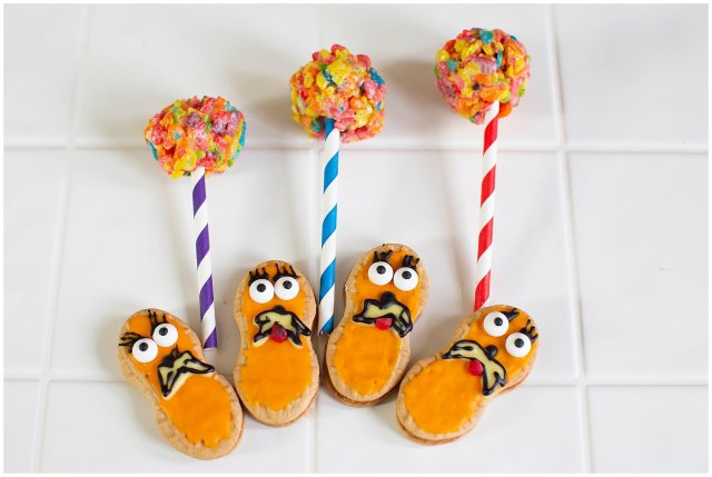 These fun Lorax cookies are made with Nutterbutters and frosting.