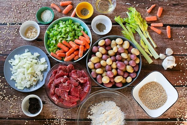 This Instant Pot beef barley stew recipe starts wtih all fresh ingredients.