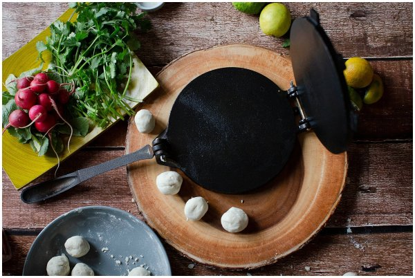 You will need a corn tortilla press to make your own corn tortillas.