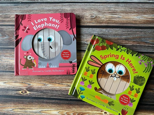 Spring is Here sliding board book.