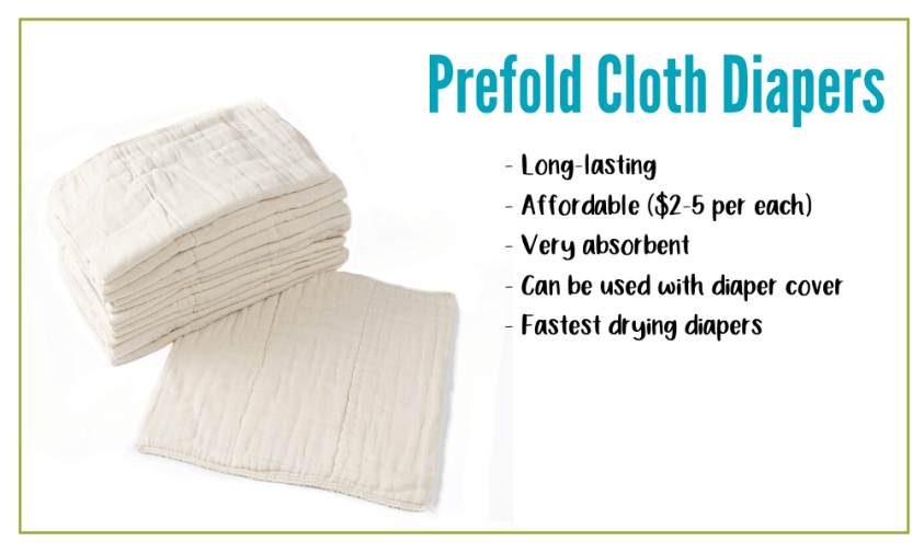 Prefold Cloth Diapers are affordable and sustainable