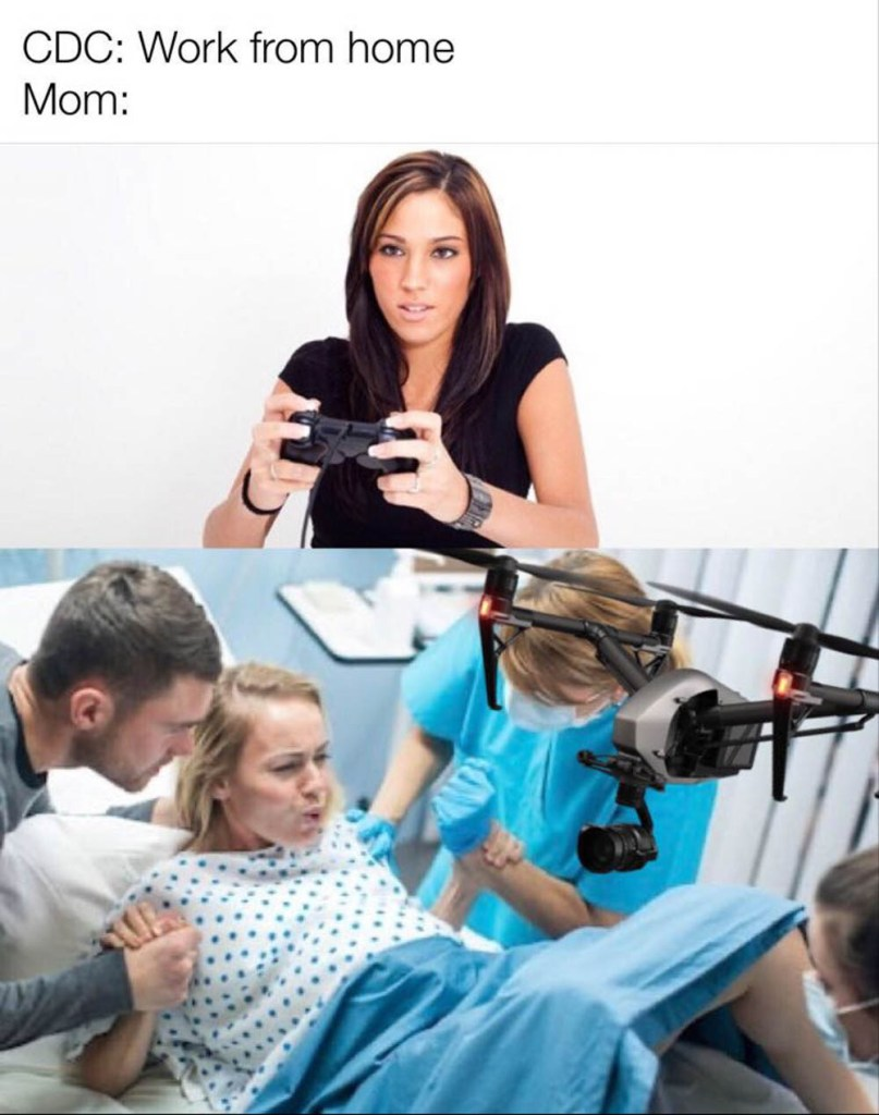 Birth photographer work from home meme 2020