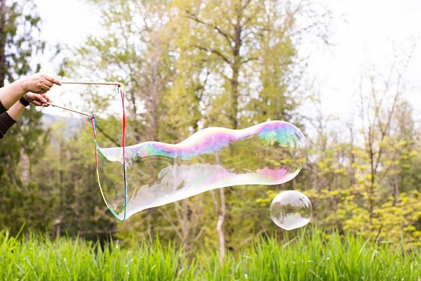 Giant bubbles are fun for all ages.