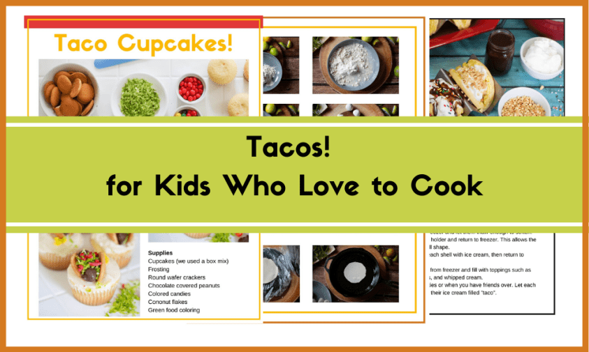 Tacos for kids who love to cook. Interested-based learning for kids in 3rd-5th grad.