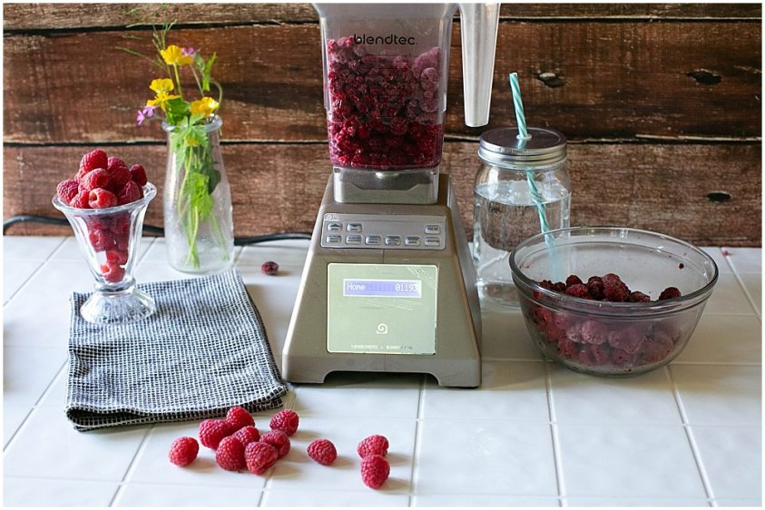 Raspberry sorbet is easy to make at home.