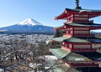 Fujiyama Arakurayama Sengen Park 新倉山淺間公園富士山