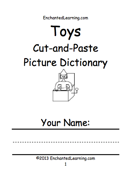 Toy Theme Page at EnchantedLearning.com