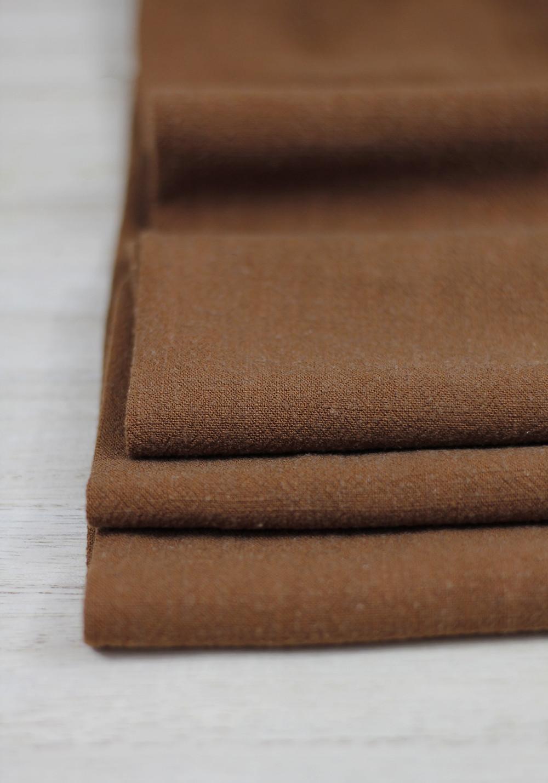 tissu lin viscose bronze