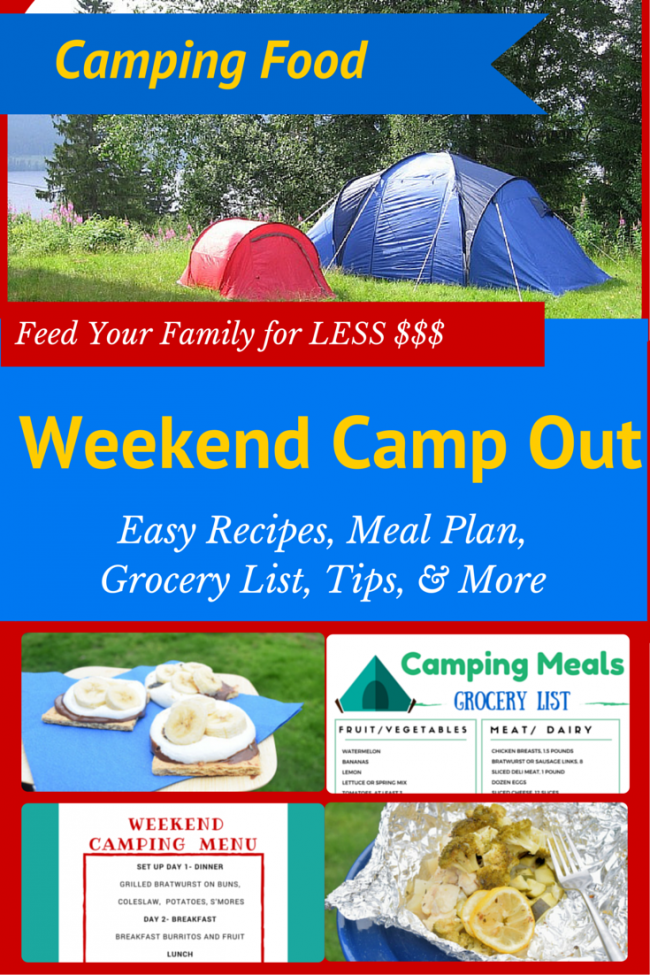 Weekend Camping Meal Plan Amp Recipes 4 5 People For ONLY