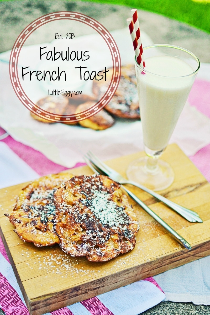 Use Bagels or any nice thick bread for this recipe from @LittleFiggyFood-#FrenchToast