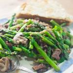 Asparagus Mushrooms with Prosciutto