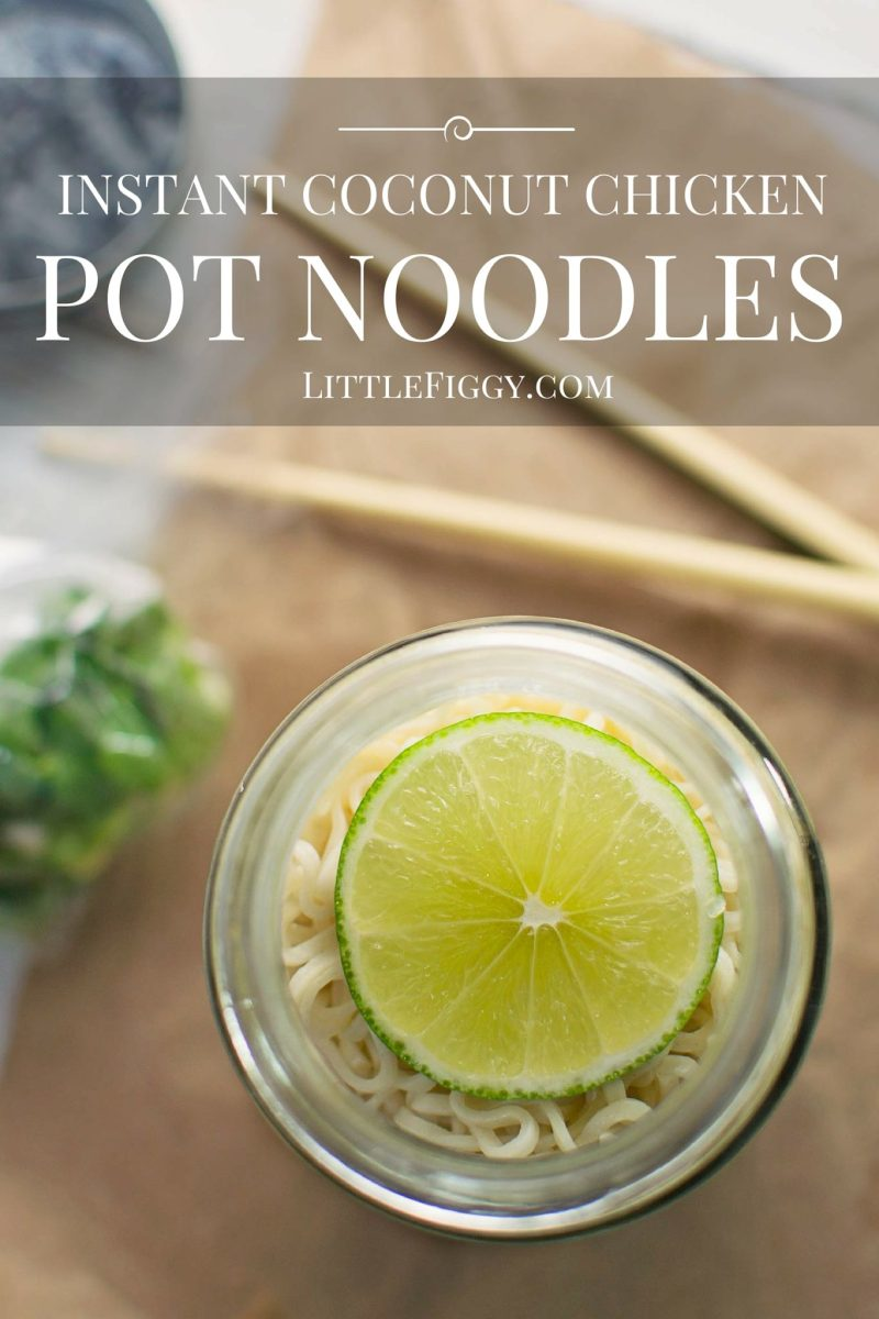 Thai Chicken Instant Pot Noodles - #InstantNoodles - @LittleFiggyFood - Easy to make and full of flavor, the perfect DIY and portable lunch, instant pot noodles.