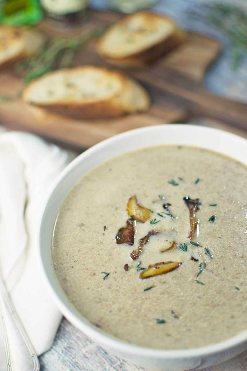 Mushroom Soup - #Mushrooms - @LittleFiggyFood