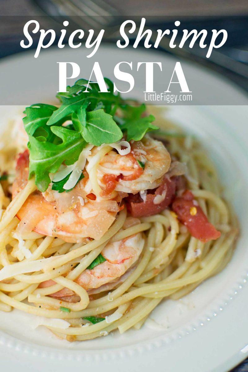 Spicy Shrimp with Pasta - #Pasta - @LittleFiggyFood