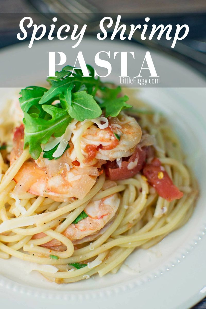 Spicy Shrimp with Pasta - #Pasta - @LittleFiggyFood