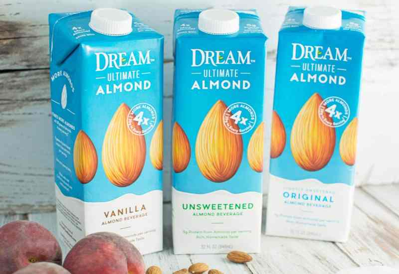Dream Ultimate Almond Milk - creamy and delicious, great poured over cereals and smoothies and in baking. - Find out more @LittleFiggyFood