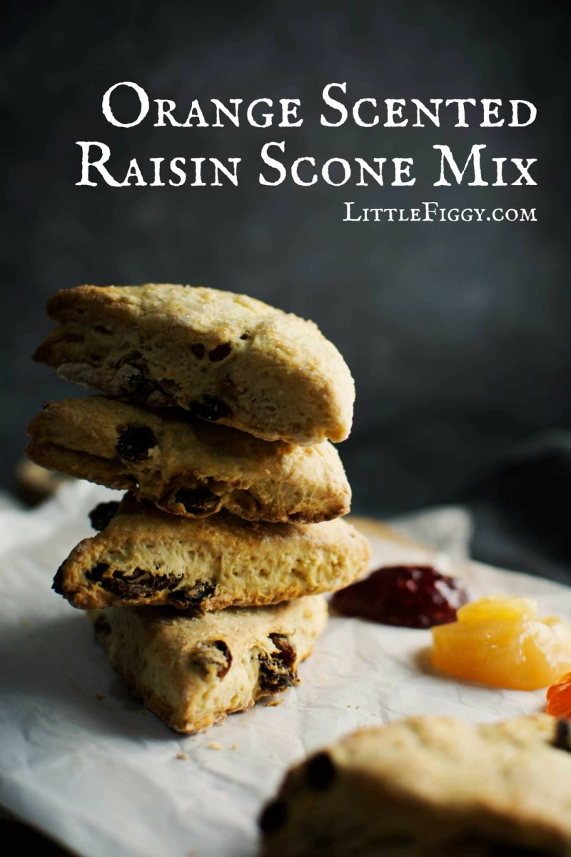 Easy to make & perfect for gifts from the kitchen, Orange Scented Raisin Scone Mix! Get the recipe from @LittleFiggyFood