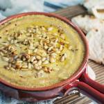 Baked Hummus with Toasted Pine nuts
