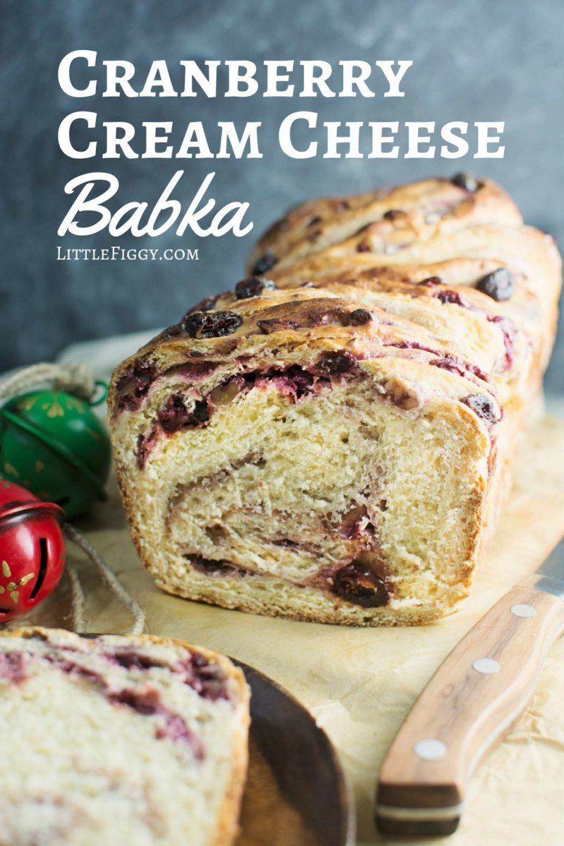 Discover the Magic of Tea and unwrap the flavor of the season with this Cranberry Cream Cheese Babka! Get the recipe @LittleFiggyFood #celestialseasonings #themagicoftea #ad
