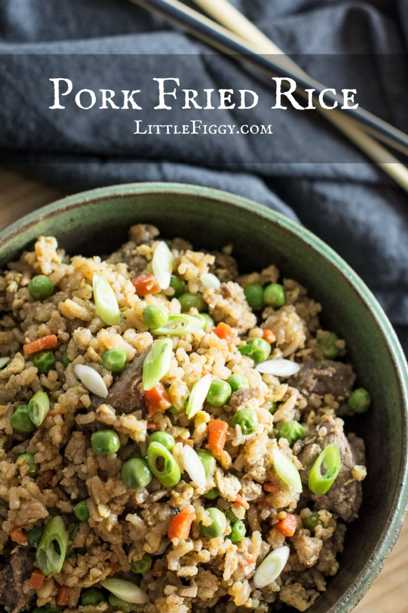 Pork Fried Rice is so easy to make always taste great. Make you own take out favorite at home! Recipe @LittleFiggyFood