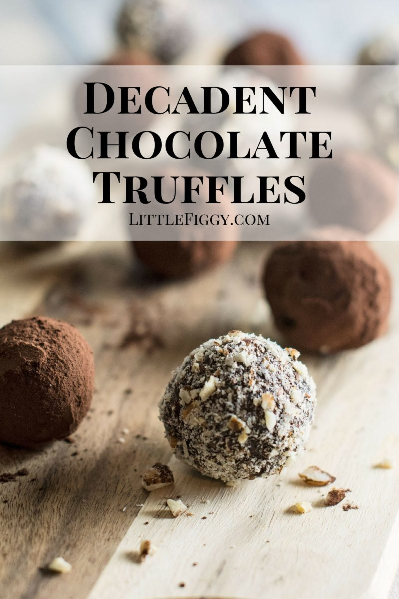 Oh so decadent Dark Chocolate Truffles! No SUGAR and only 3 ingredients to make the base, they are pure indulgence. Get the recipe @LittleFiggyFood