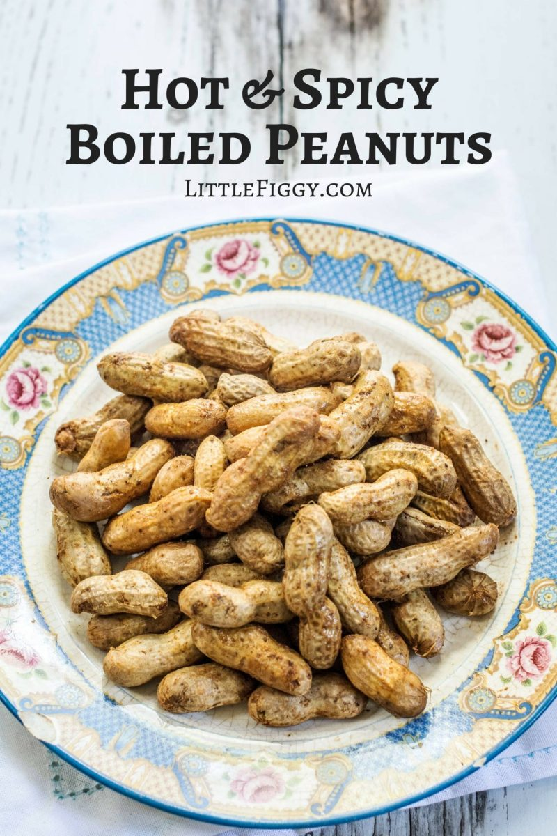 So full of flavor and easy to make, southern Hot & Spicy Boiled Peanuts! Get the recipe at Little Figgy Food