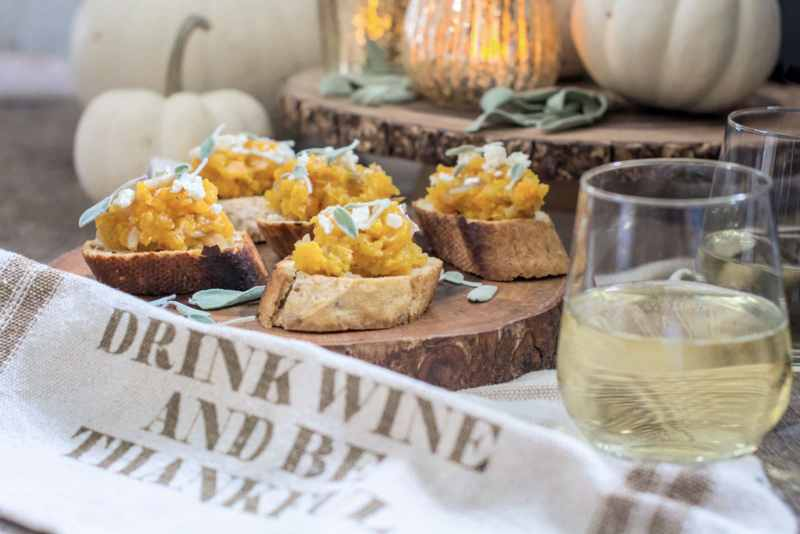 Try this Sage & Butternut Bruschetta appetizer recipe! Get the recipe Little Figgy Food! @SonomaCutrer #ad #21andup