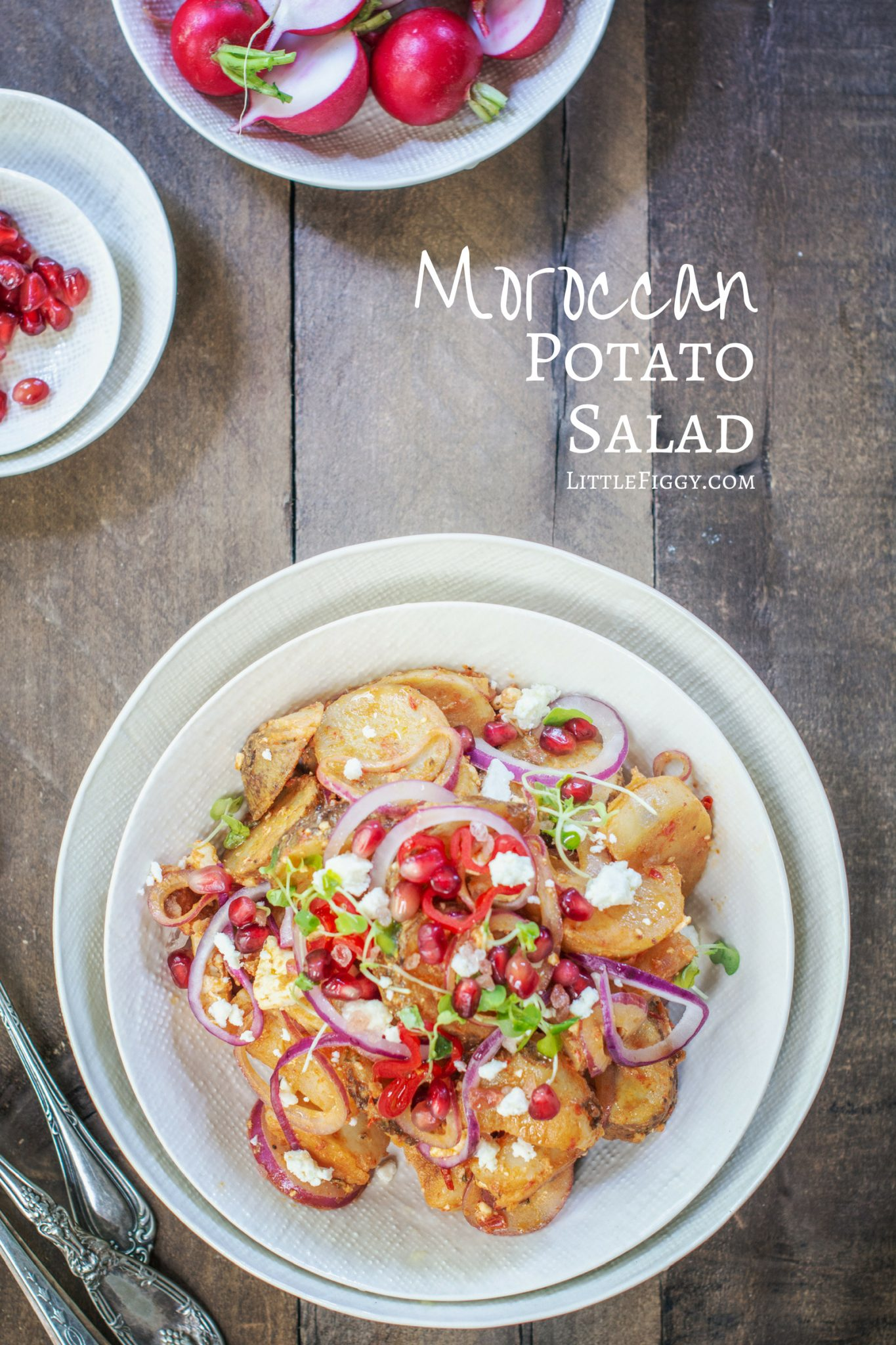 Try this easy to make Moroccan Potato Salad recipe, full of exotic flavors & perfect for BBQ's & picnics any time of year! Made with @Idahopotato for the best taste. Get the recipe at Little Figgy Food. #ad #IdahoPotatoes