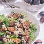 Grilled Fig Salad with Balsamic Honey Vinaigrette