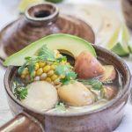 Colombian Chicken Corn and Potato Stew {Ajiaco Recipe}