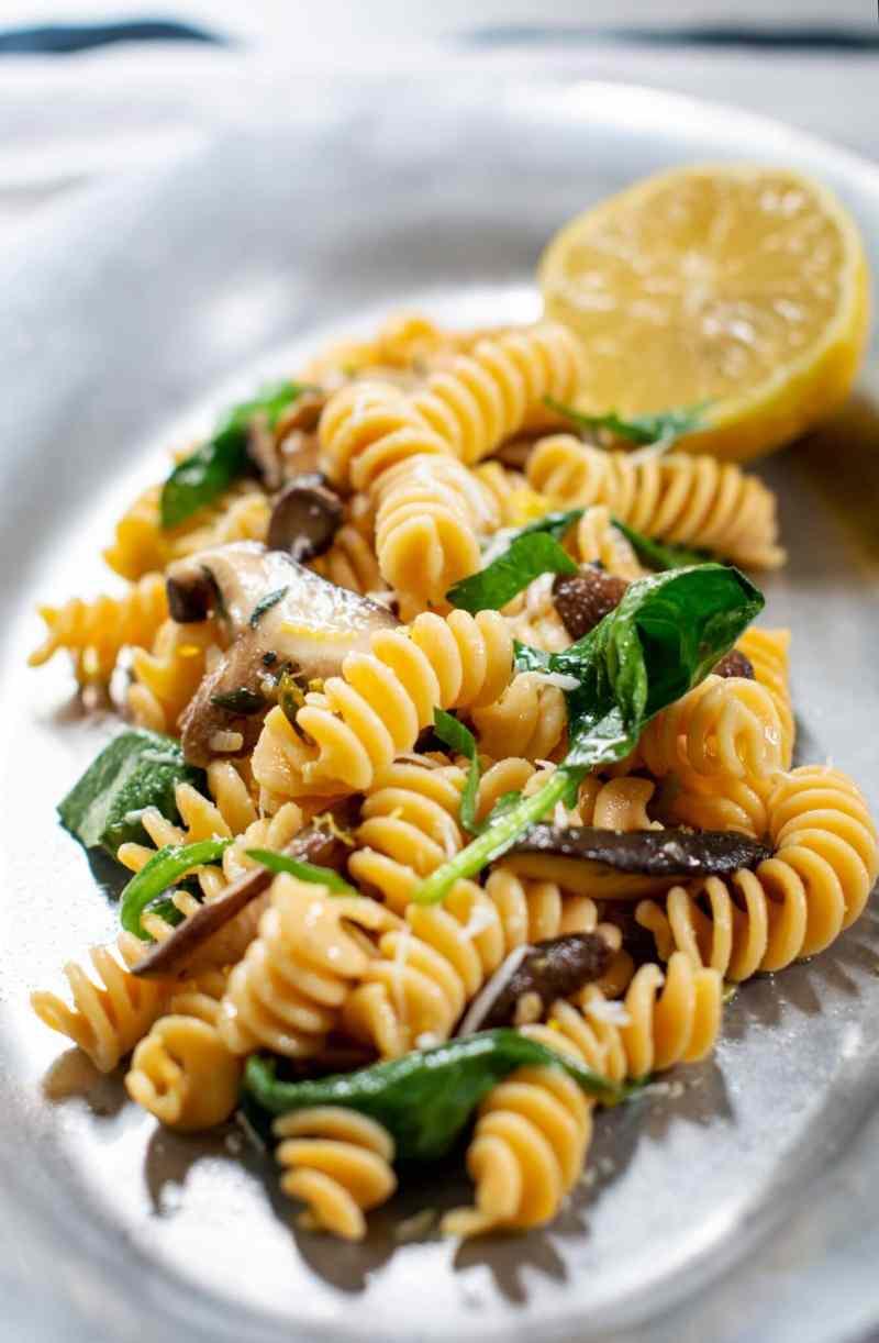 Dinner for 2, mushroom sauce with gluten free pasta