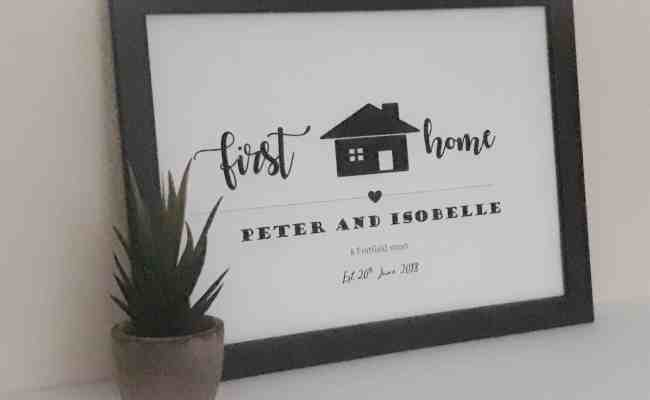 New Home Printed Gift Unique Personalised Gifts Free