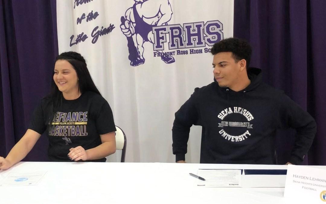 Olivia Baptista, Hayden Lehmann to continue careers in college