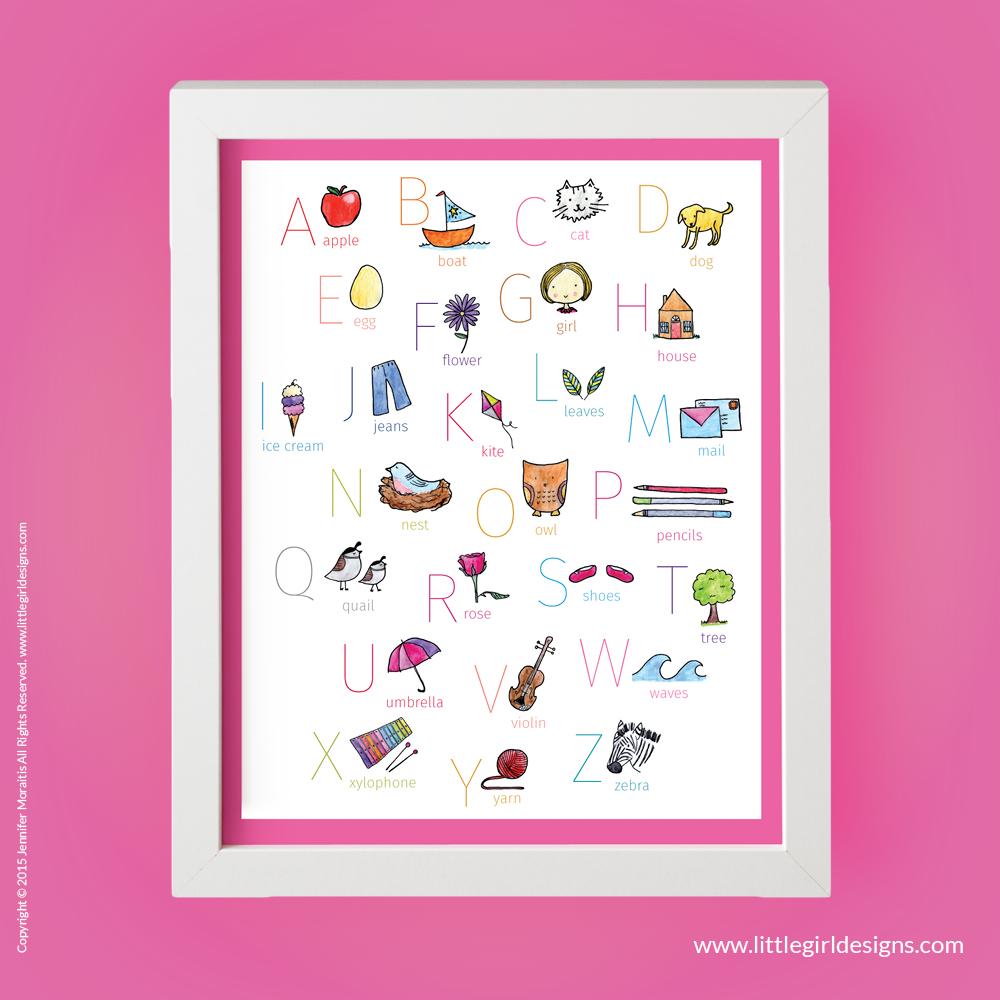 Pink ABC Printable - Jennie Moraitis