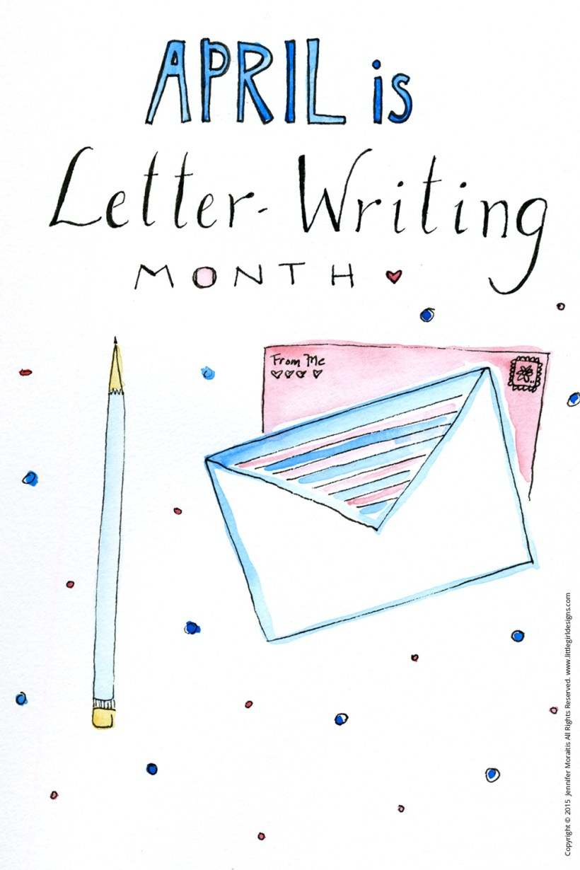 April is Letter-Writing Month - Let's bring back snail mail! :) Whether you need inspiration, a free printable or two, or some writing prompts, I've got you covered @littlegirldesigns.com