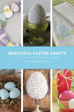 My favorite beautiful {and simple} Easter crafts that you'll want to make today! @littlegirldesigns.com