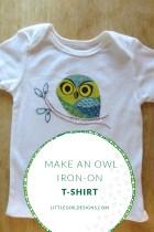 Make an Owl Iron-on T-shirt