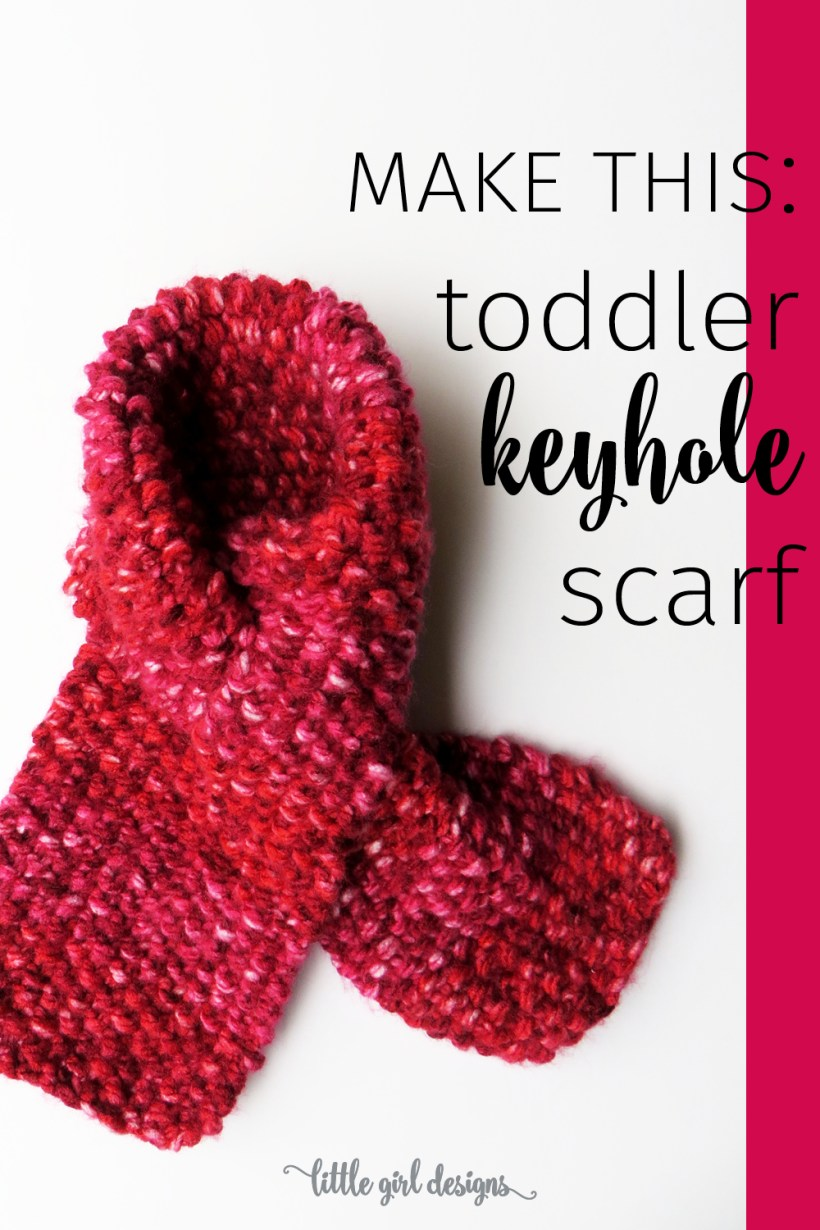 Simple Toddler Keyhole Scarf Knitting Pattern | Jennie Moraitis