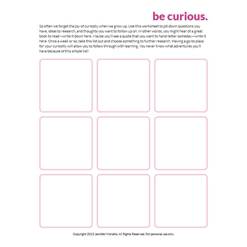 Be Curious - How Curiosity Grows Your Creativity - being a curious person is a proven way to grow your creative life. Learn more @littlegirldesigns.com