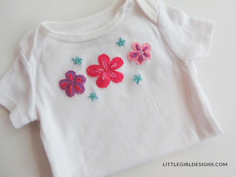 A personalized baby gift a painted embroidered onesie jennie personalized baby gift painted and embroidered baby outfit make a sweet baby shower gift negle Gallery