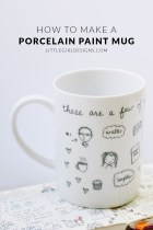 Decorate a Mug with a Porcelain Paint Pen